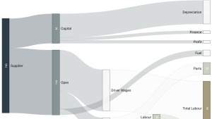 Using a Sankey Diagram to visualise data
