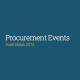Procurement Events in Australia, Australasia, New Zealand in 2015