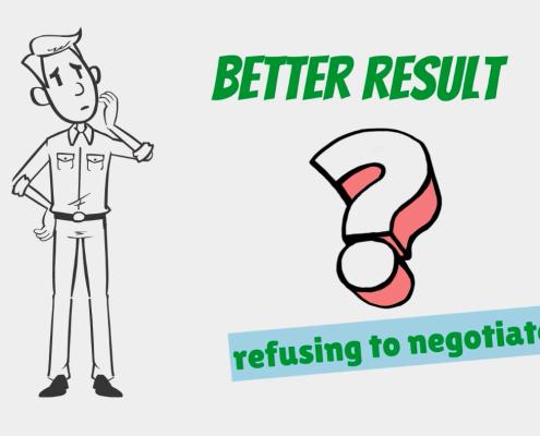 refusing to negotiate