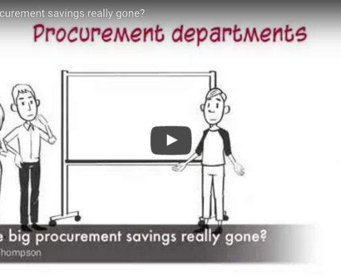 Are the big procurement savings really gone 1