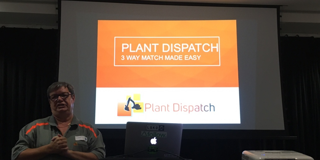 Founder of Plant Dispatch (soon to be '3 way match') Alan Haynes at the CIPS Event.