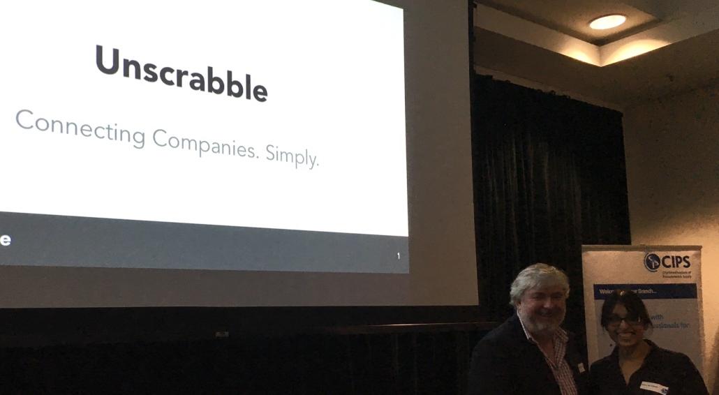 Unscrabble Co-founders Steve Mardon and Sujata Karandikar at the QLD CIPS Event.