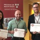 Katie Zhang, Simon Thompson, and Jeremy Blackford from Acquire at Harvard
