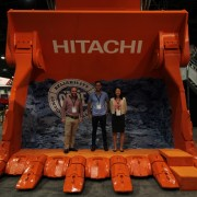 Acquire Procurement Services Simon Thompson, Jeremy Blackford and Katie Zhang at MINExpo 2016