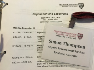 Acquire attended the Negotiation and Leadership Program