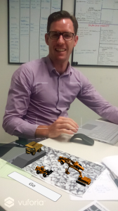 Demonstrating the mining fleet using augmented reality