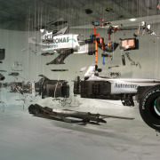 exploded formula one car